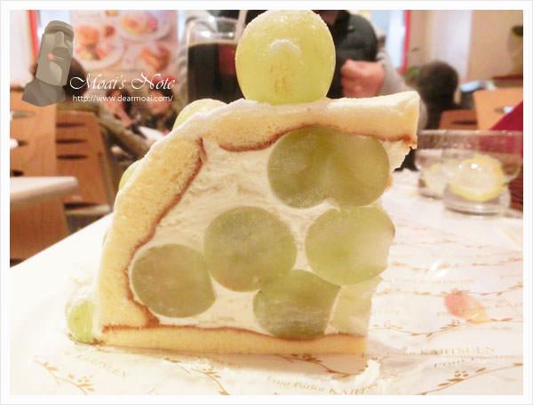 【2013日本東京行】果実園‧fruit parlor kajitsuen~超級美味的葡萄蛋糕!