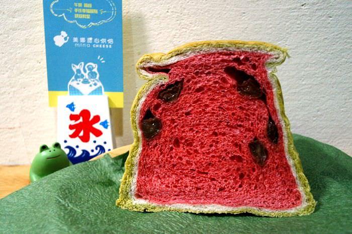 【台中市西區】Mina Cheese 美娜甜心烘焙坊~吃西瓜吐司也是一種今年的流行