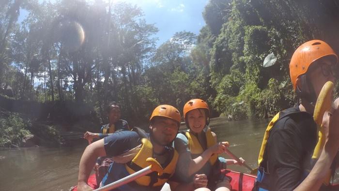 【2015慵懶峇里島】BAHAMA激流泛舟、簡單把費簡餐~好玩好耗體力但很有魅力