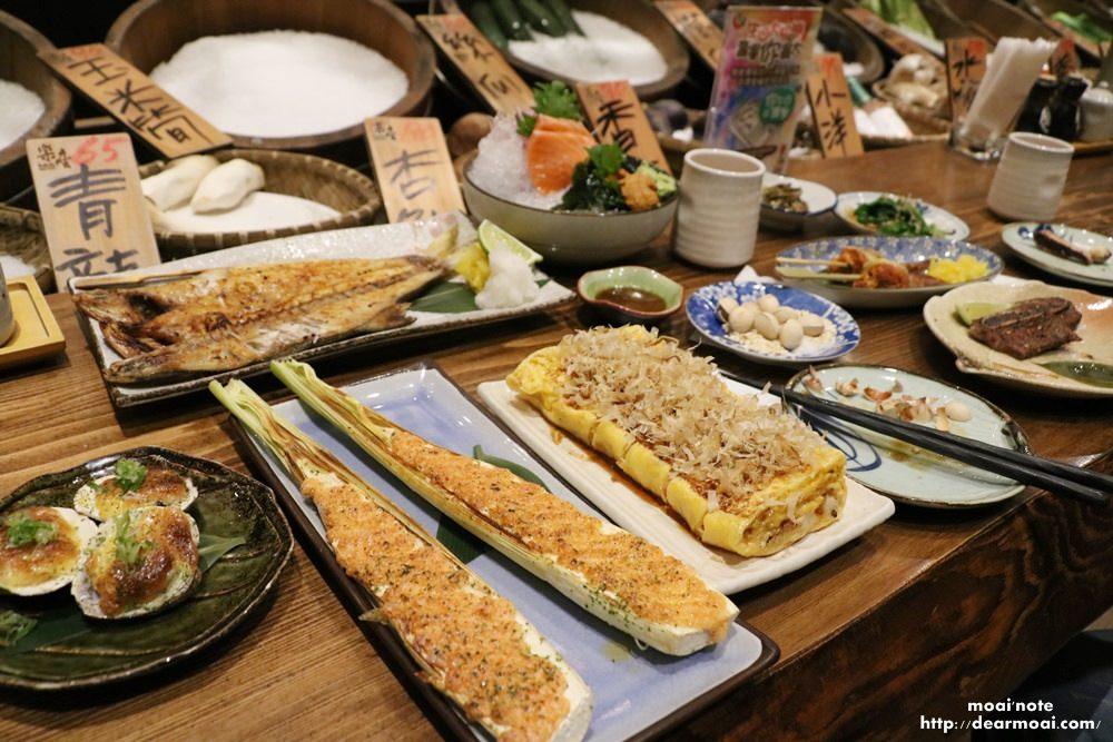 【台中北區】樂座爐端燒崇德店Rakuza Robatayaki~日式船槳送餐、新鮮蔬菜現點現烤好味道