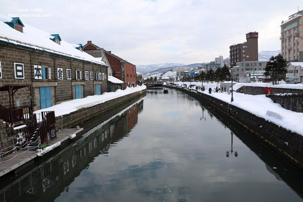 【2017北海道初心自由行】小樽運河散策~純白雪景中欣賞港都風情逛遍小樽美景