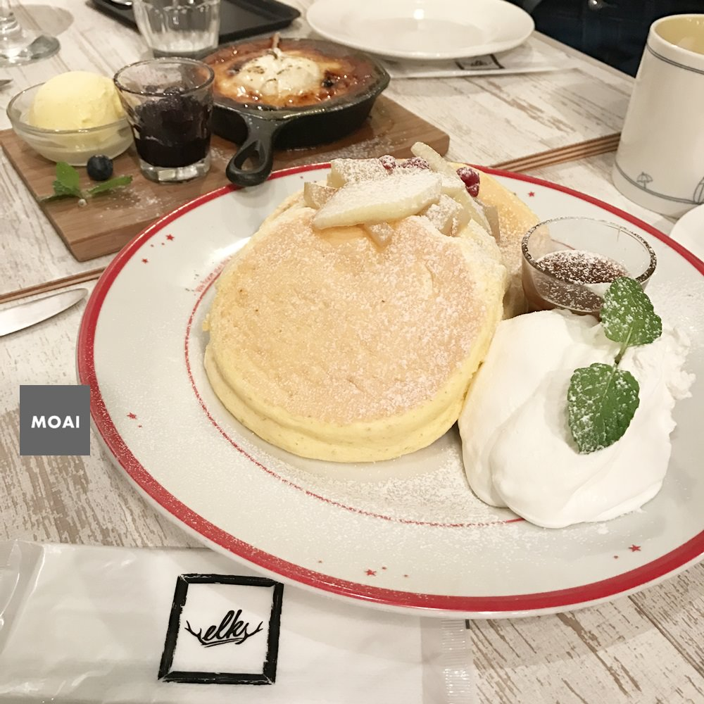 【2017大阪自由散策行】elk麋鹿鬆餅(エルク)心斎橋本店~舒芙蕾厚鬆餅鬆軟美味!