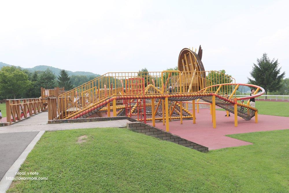 【2018北海道夏日風情畫】北海道旭川‧神威の杜公園 (カムイの杜公園)~超好玩的室內外遊樂設施而且是免費的!