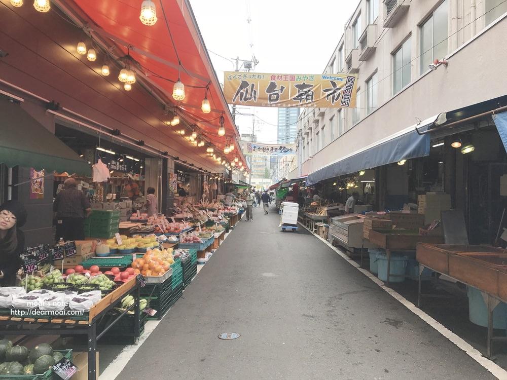 【2018仙台樂吃購】仙台朝市漫遊~市場很短但是九月的水蜜桃超甜不容錯過。