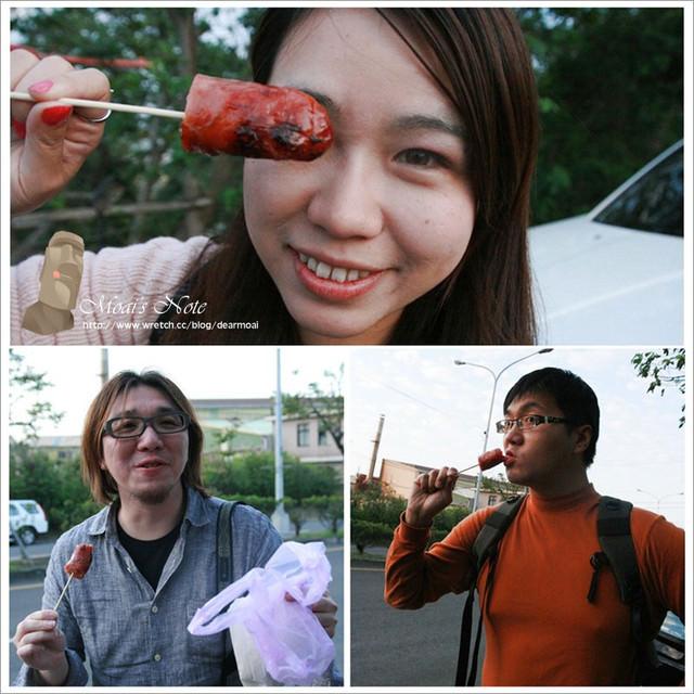 【苗栗縣竹南市】華脆皮噴水香腸~原來吉佈德碳烤周日沒開柳