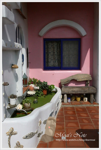 【墾丁閒散行】小徑民宿‧希臘房~藍與白的國度怎麼拍都美